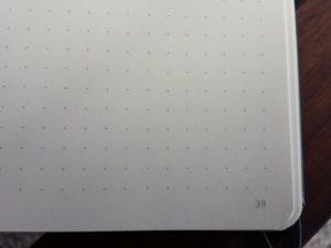 Dotted pages, numbered.